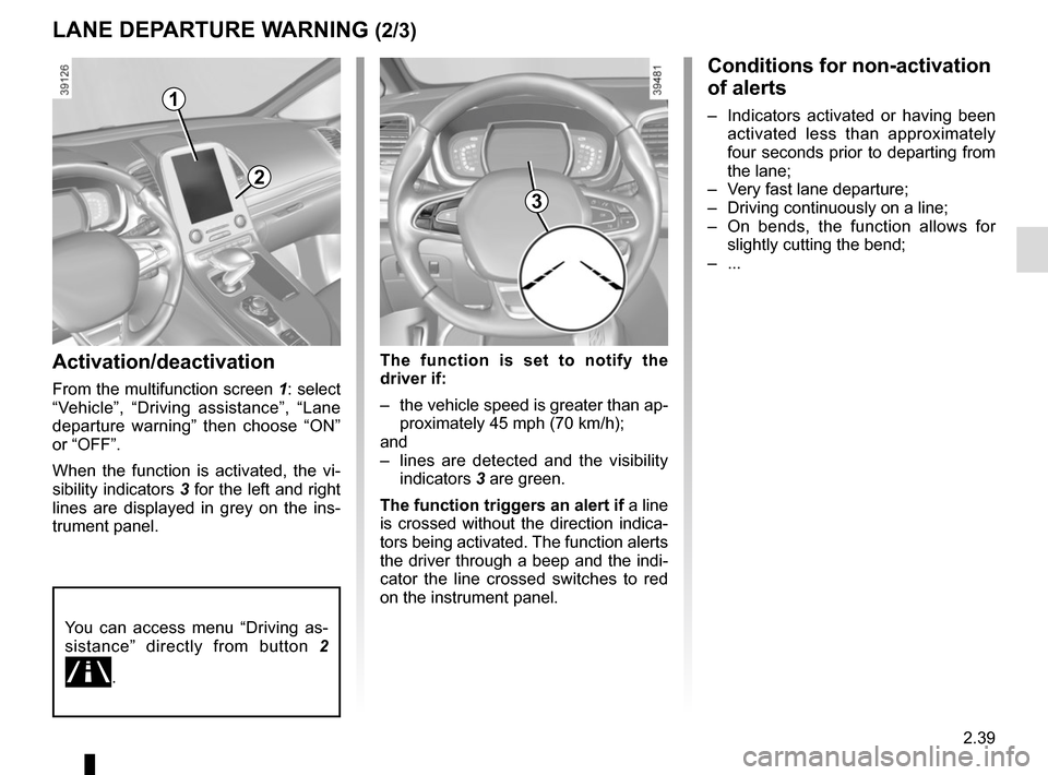 RENAULT ESPACE 2015 5.G Owners Manual, Page 151