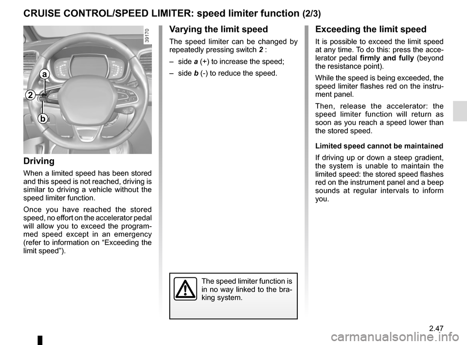 RENAULT ESPACE 2015 5.G Owners Manual, Page 159