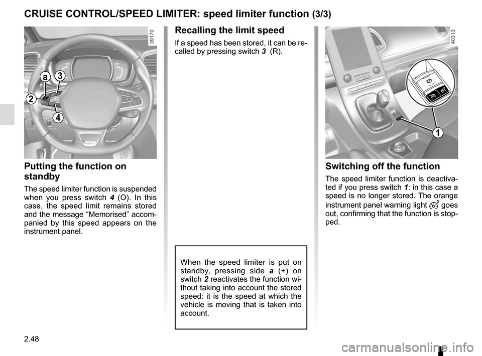 RENAULT ESPACE 2015 5.G Owners Manual, Page 160