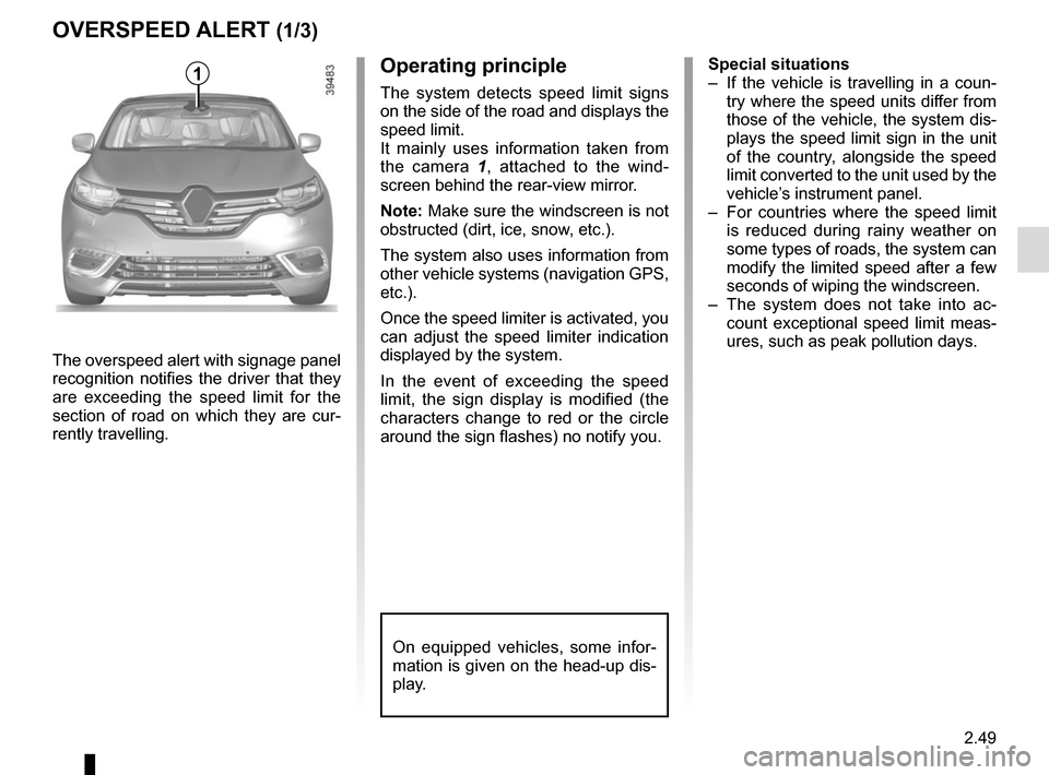 RENAULT ESPACE 2015 5.G Owners Manual, Page 161