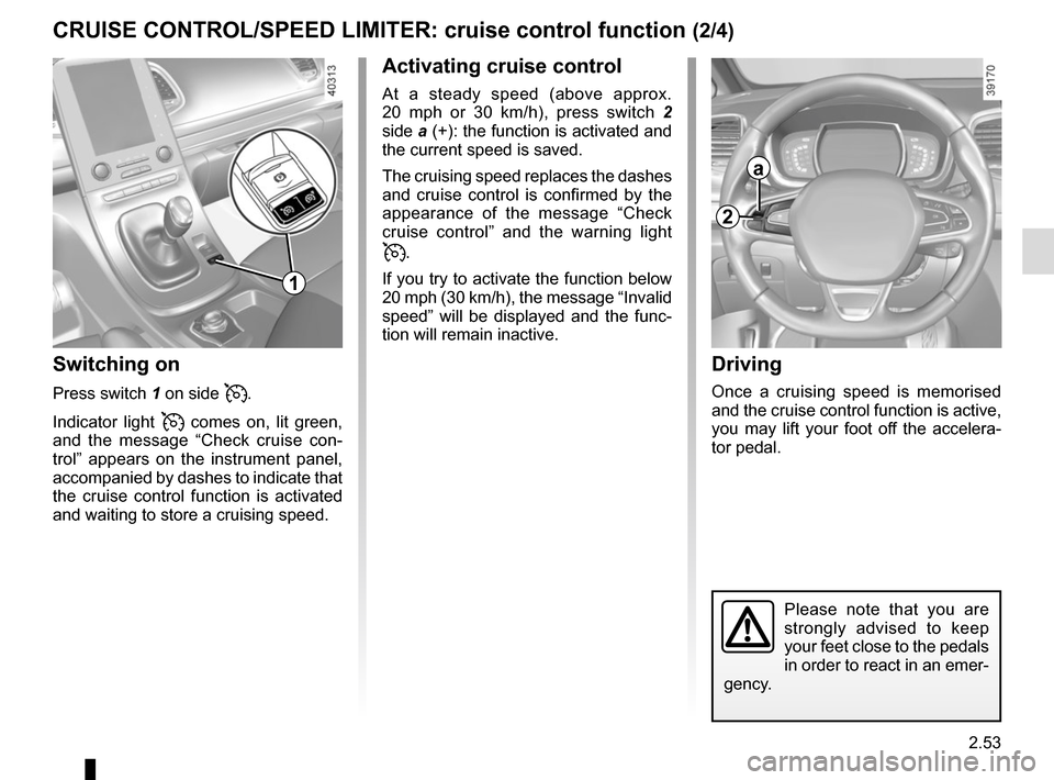 RENAULT ESPACE 2015 5.G Owners Manual, Page 165