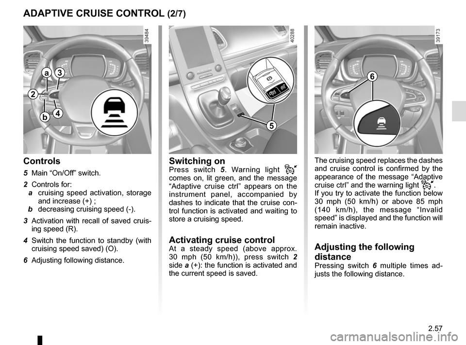 RENAULT ESPACE 2015 5.G Owners Manual, Page 169