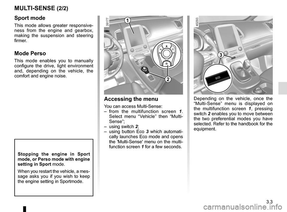 RENAULT ESPACE 2015 5.G Owners Manual, Page 195