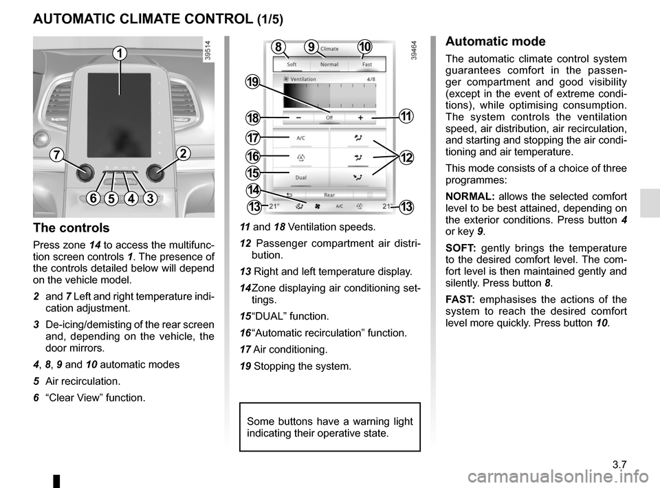 RENAULT ESPACE 2015 5.G Owners Manual, Page 199