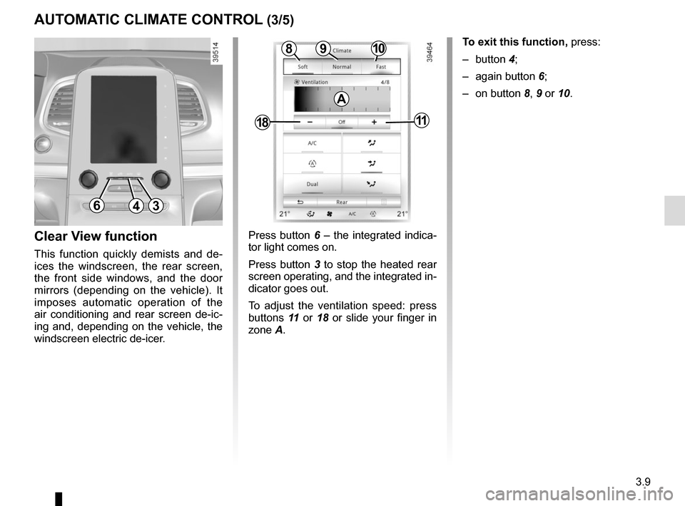 RENAULT ESPACE 2015 5.G Owners Manual, Page 201