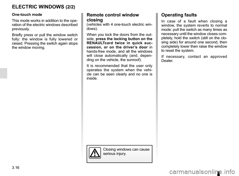 RENAULT ESPACE 2015 5.G Owners Manual, Page 208
