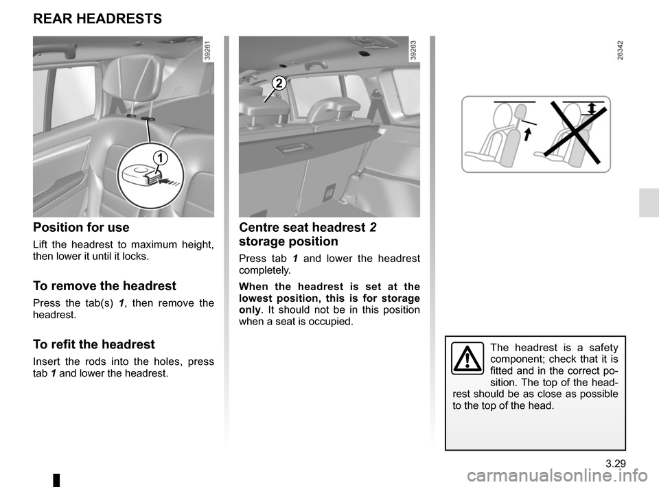 RENAULT ESPACE 2015 5.G Owners Manual, Page 221