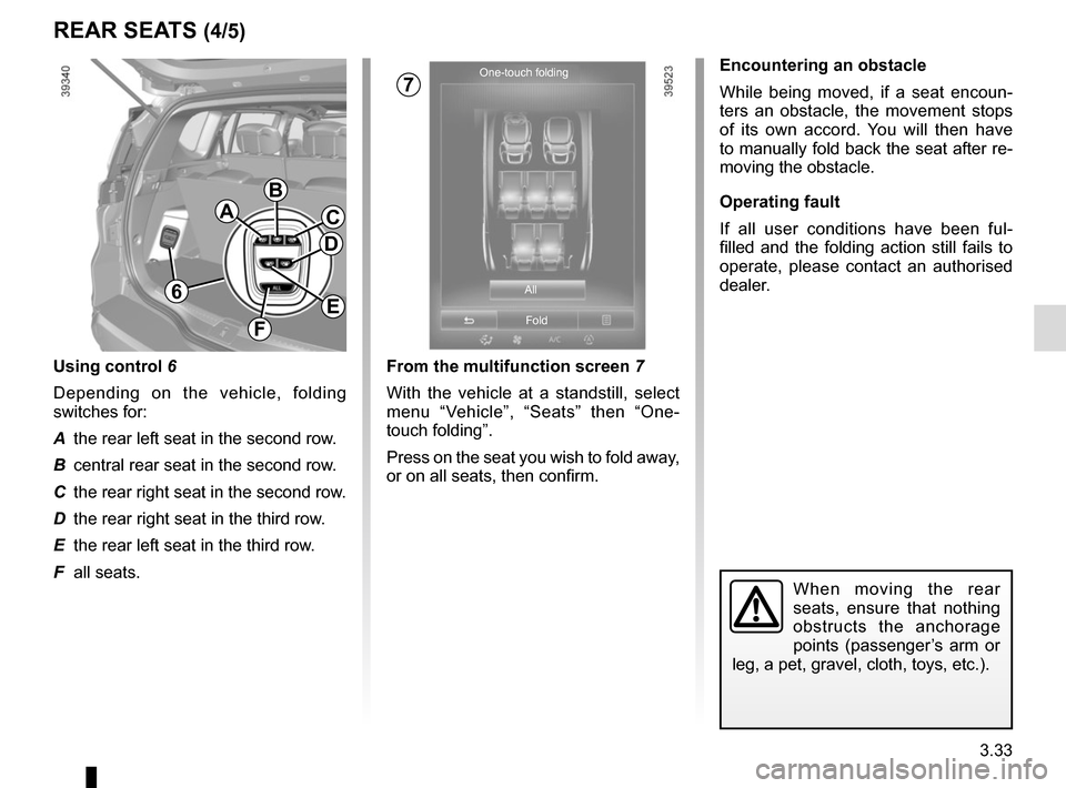 RENAULT ESPACE 2015 5.G Owners Manual, Page 225