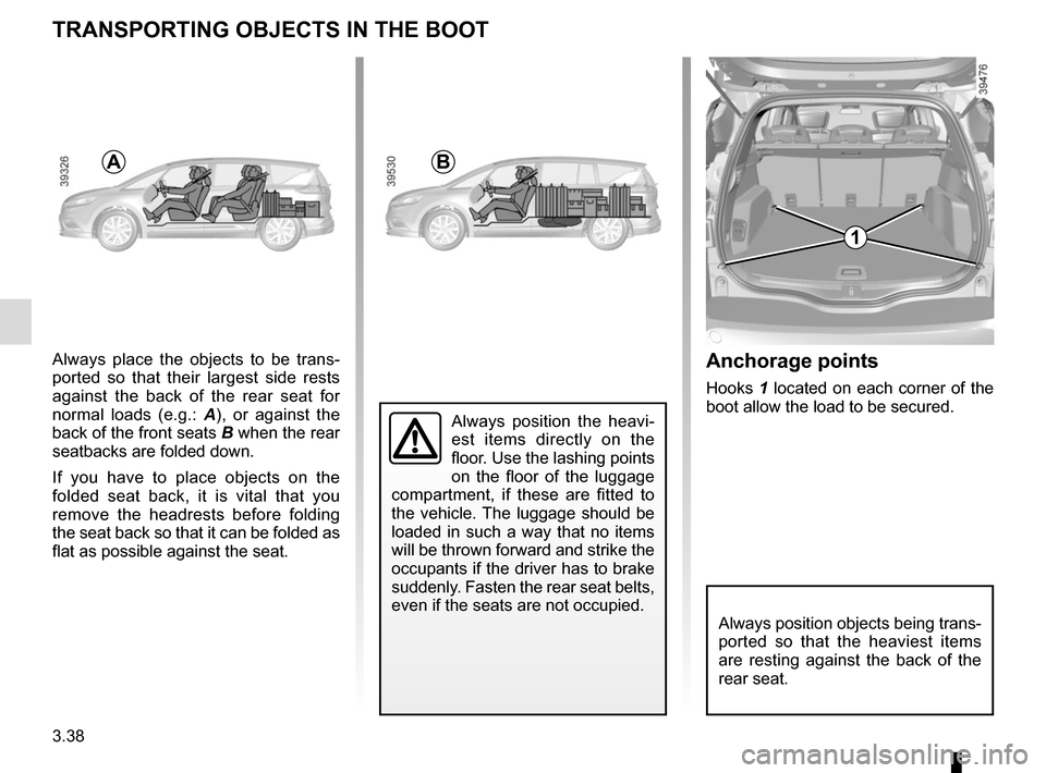 RENAULT ESPACE 2015 5.G Owners Manual, Page 230
