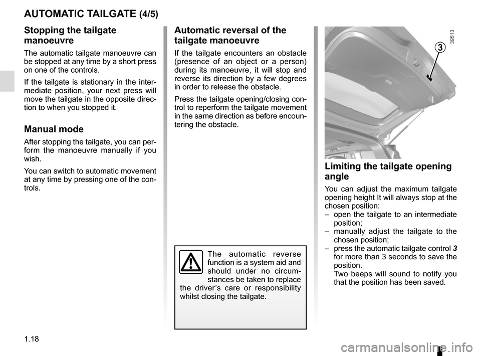 RENAULT ESPACE 2015 5.G Owners Manual, Page 24