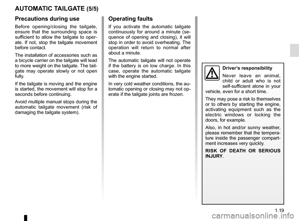 RENAULT ESPACE 2015 5.G Owners Manual, Page 25