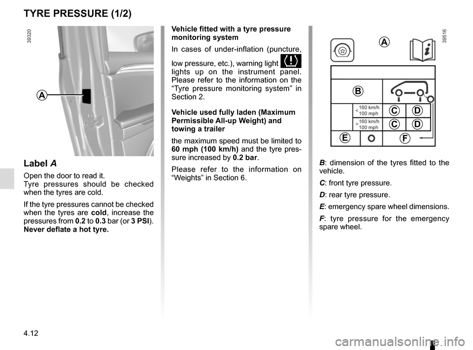 RENAULT ESPACE 2015 5.G Owners Manual, Page 248