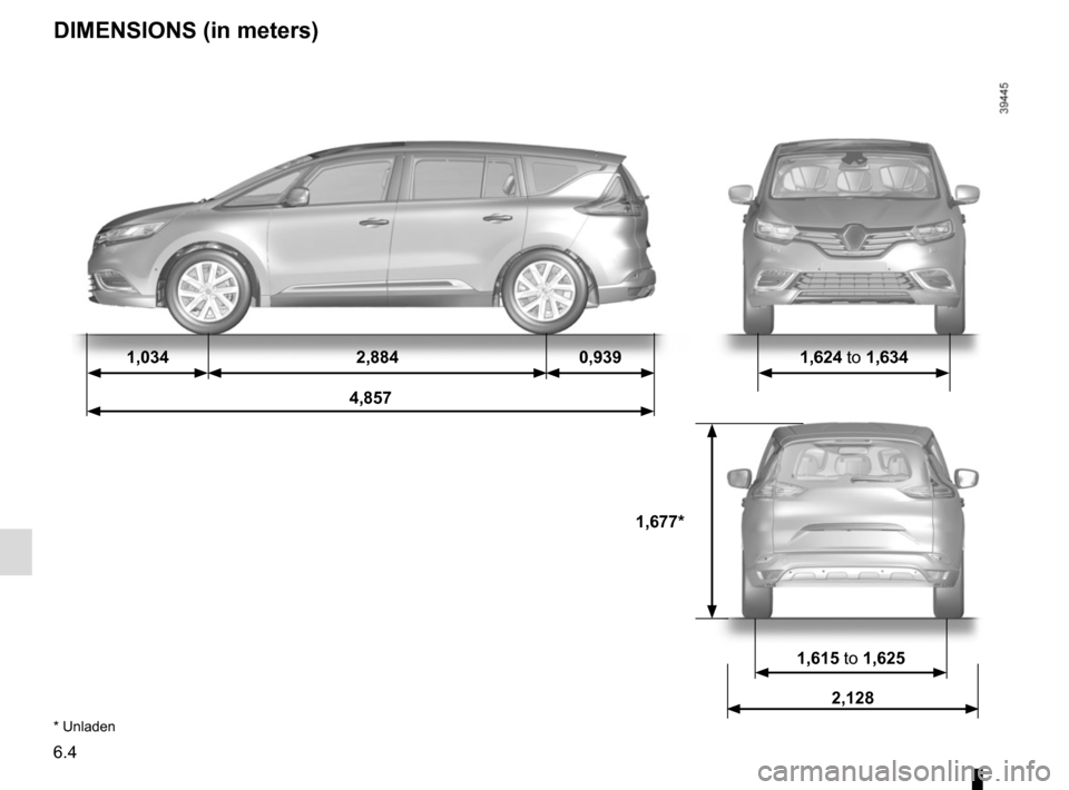 RENAULT ESPACE 2015 5.G Owners Manual, Page 294