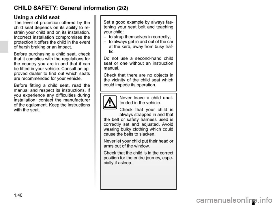 RENAULT ESPACE 2015 5.G Owners Manual, Page 46