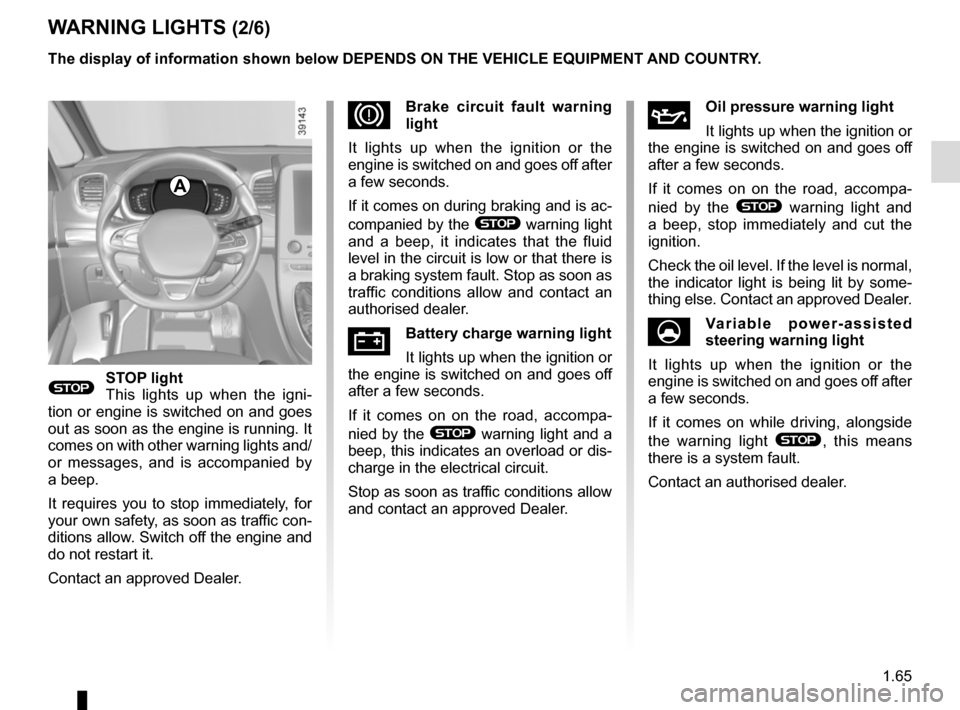 RENAULT ESPACE 2015 5.G Owners Manual, Page 71