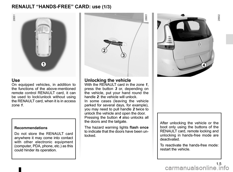 RENAULT GRAND SCENIC 2015 J95 / 3.G Owners Manual, Page 11