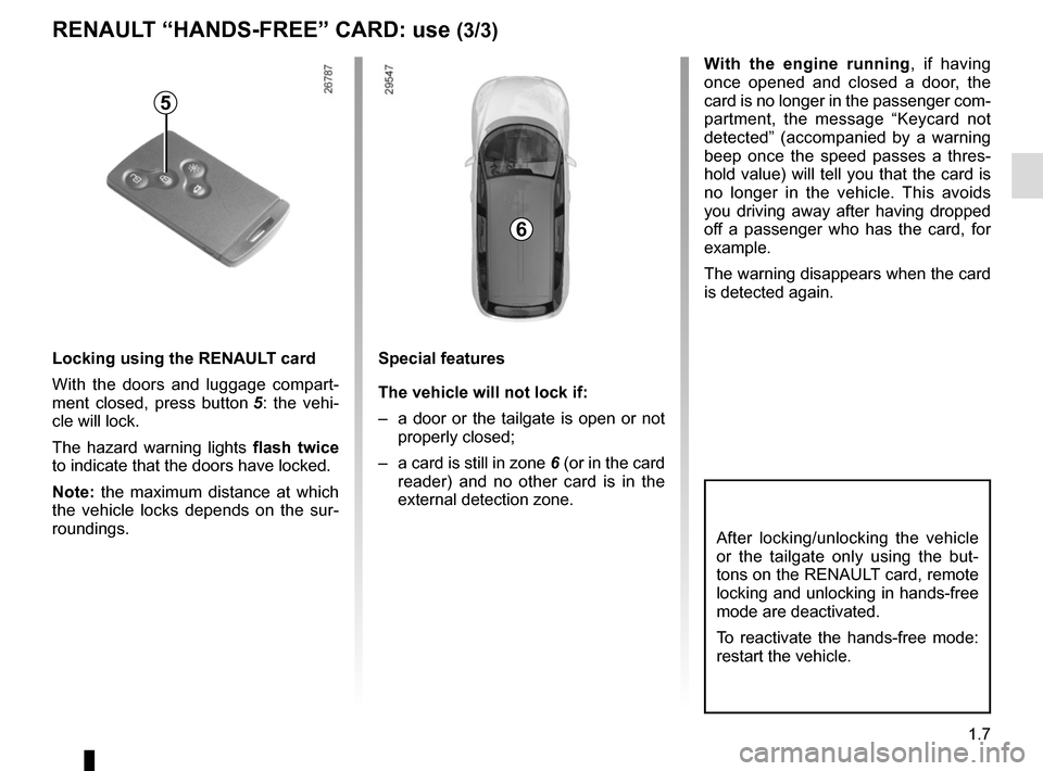 RENAULT GRAND SCENIC 2015 J95 / 3.G Owners Manual, Page 13