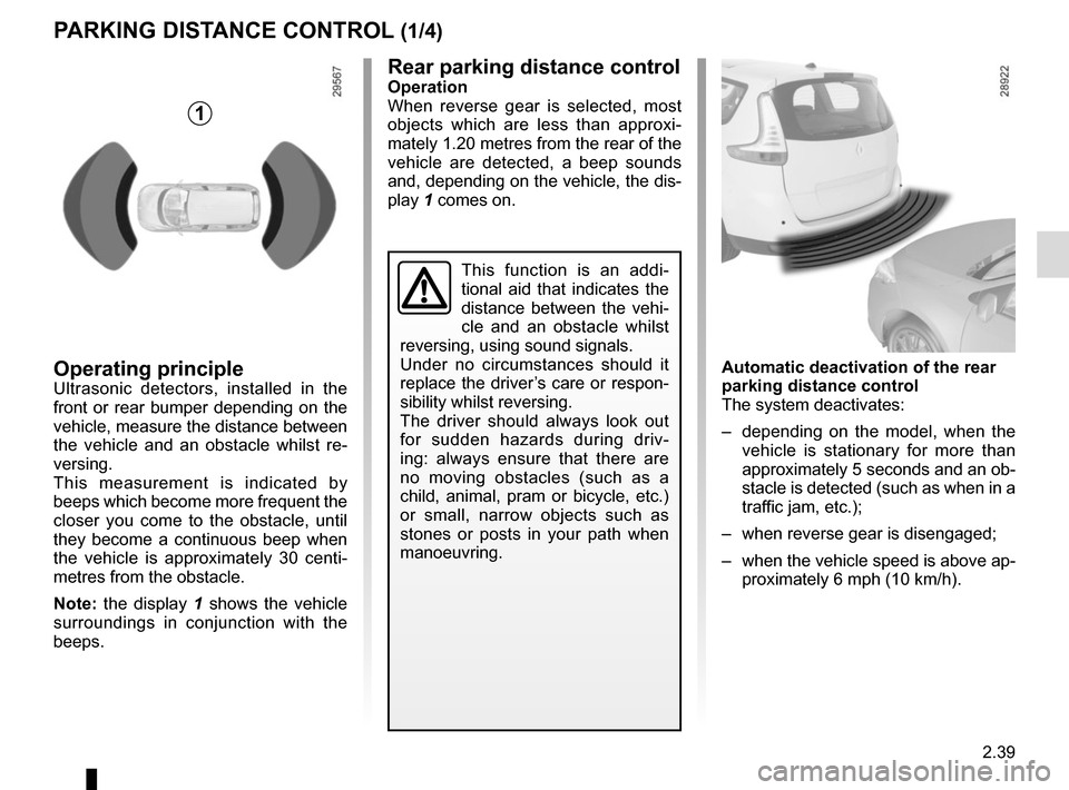 RENAULT GRAND SCENIC 2015 J95 / 3.G Owners Manual, Page 131