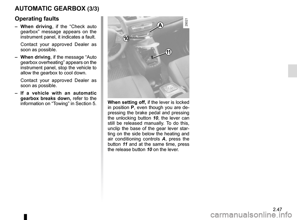 RENAULT GRAND SCENIC 2015 J95 / 3.G Owners Manual, Page 139