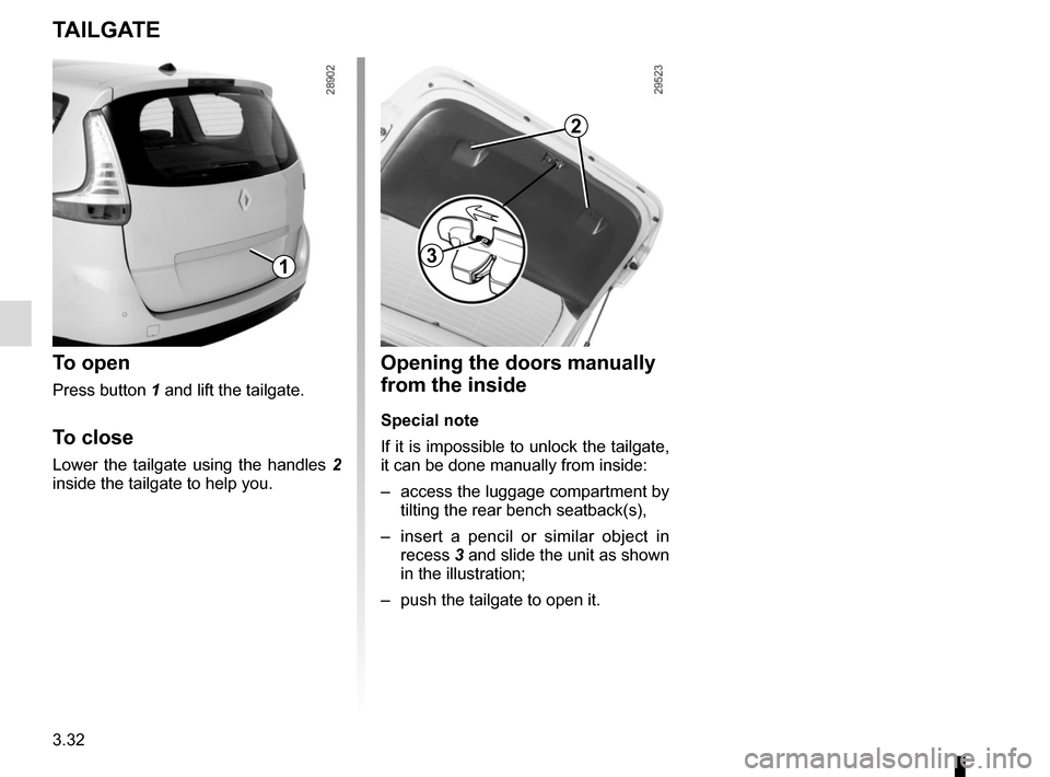 RENAULT GRAND SCENIC 2015 J95 / 3.G Owners Manual, Page 172
