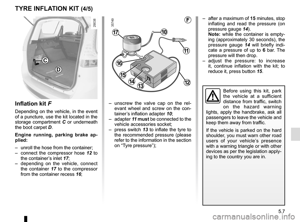 RENAULT GRAND SCENIC 2015 J95 / 3.G Owners Manual, Page 207