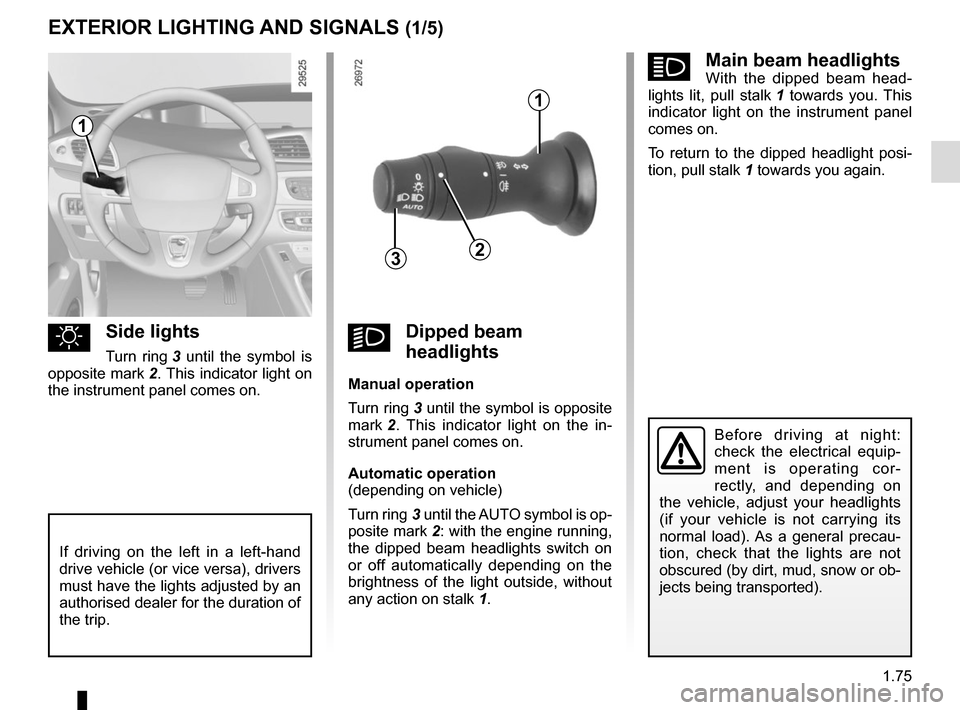 RENAULT GRAND SCENIC 2015 J95 / 3.G Owners Manual, Page 81