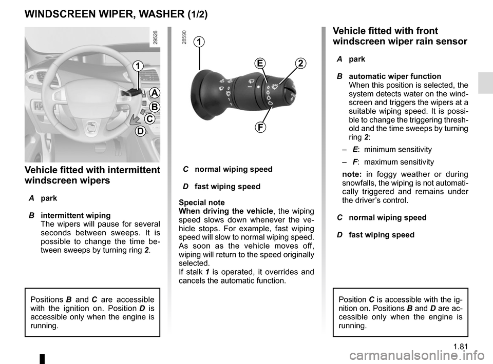 RENAULT GRAND SCENIC 2015 J95 / 3.G Owners Manual, Page 87