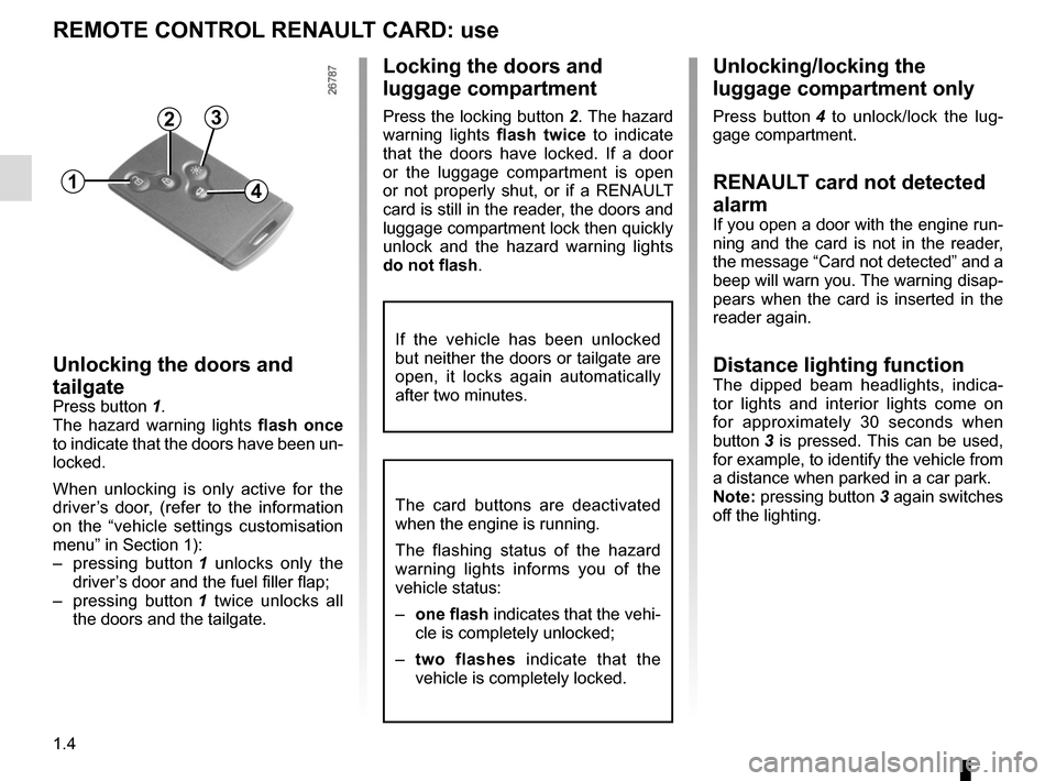 RENAULT GRAND SCENIC 2015 J95 / 3.G Owners Manual, Page 10
