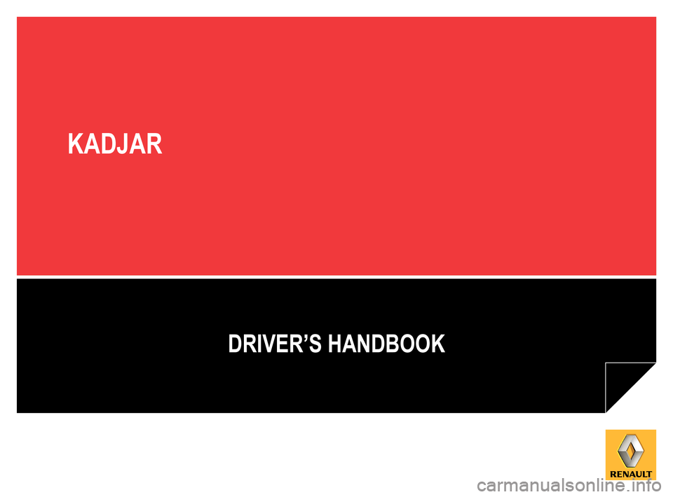 RENAULT KADJAR 2015 1.G Owners Manual, Page 1