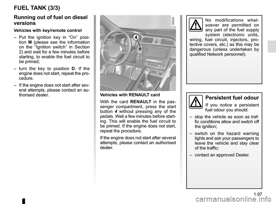 RENAULT KADJAR 2015 1.G Owners Manual, Page 103