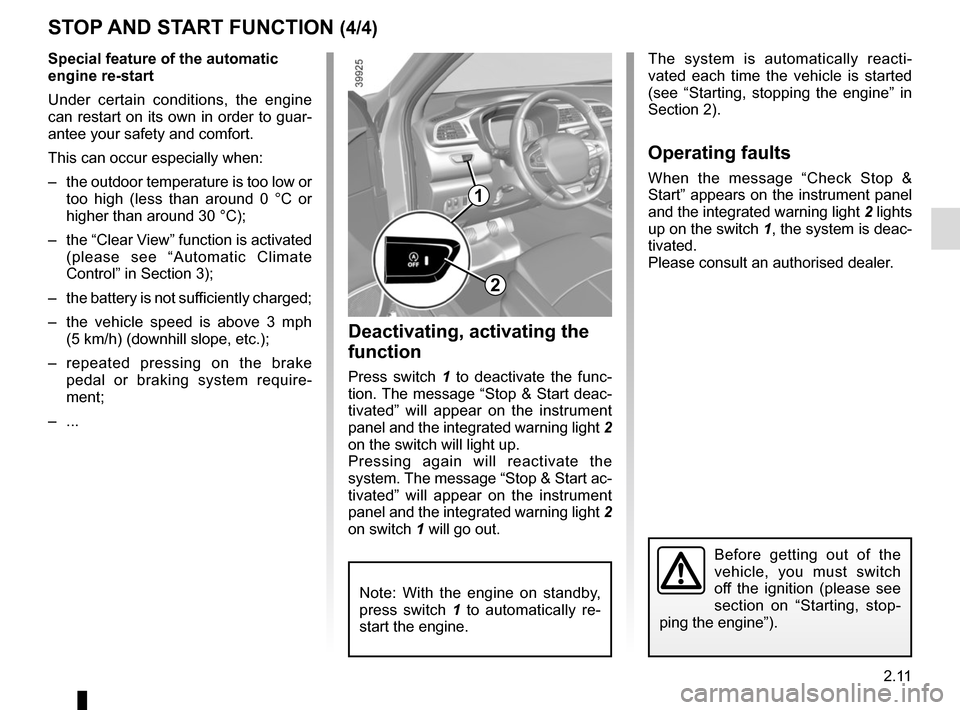 RENAULT KADJAR 2015 1.G Owners Manual, Page 115