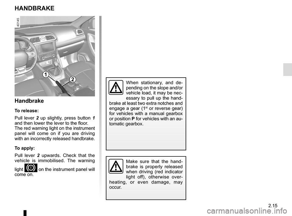 RENAULT KADJAR 2015 1.G Owners Manual, Page 119