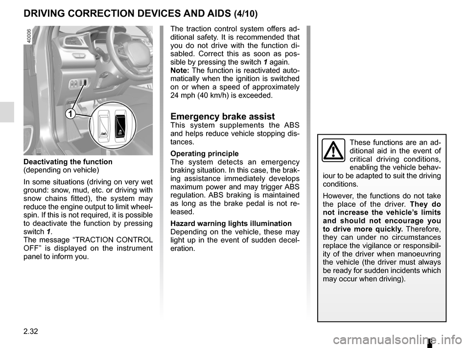 RENAULT KADJAR 2015 1.G Owners Manual, Page 136