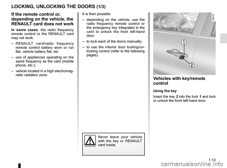 RENAULT KADJAR 2015 1.G Owners Manual, Page 19