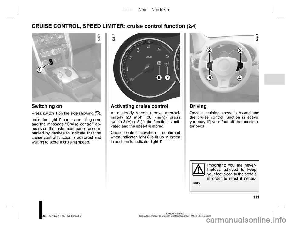 RENAULT KOLEOS 2015 1.G Owners Manual, Page 111