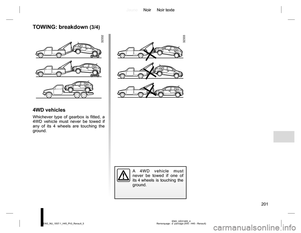 RENAULT KOLEOS 2015 1.G Owners Manual, Page 201
