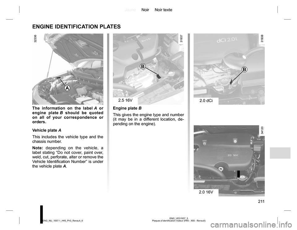 RENAULT KOLEOS 2015 1.G Owners Manual, Page 211
