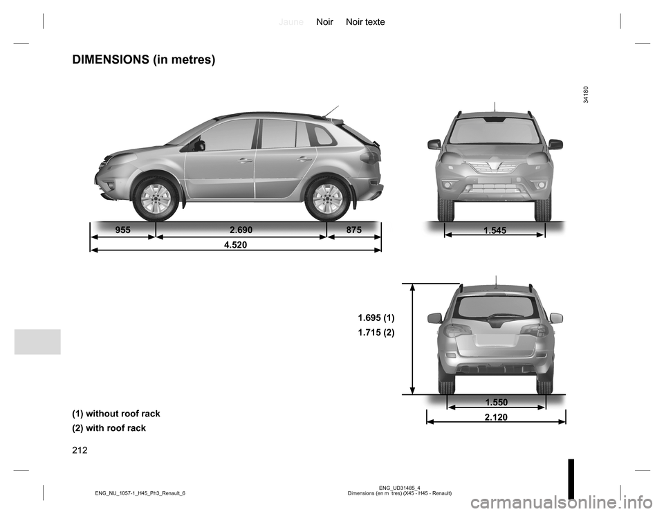 RENAULT KOLEOS 2015 1.G Owners Manual, Page 212