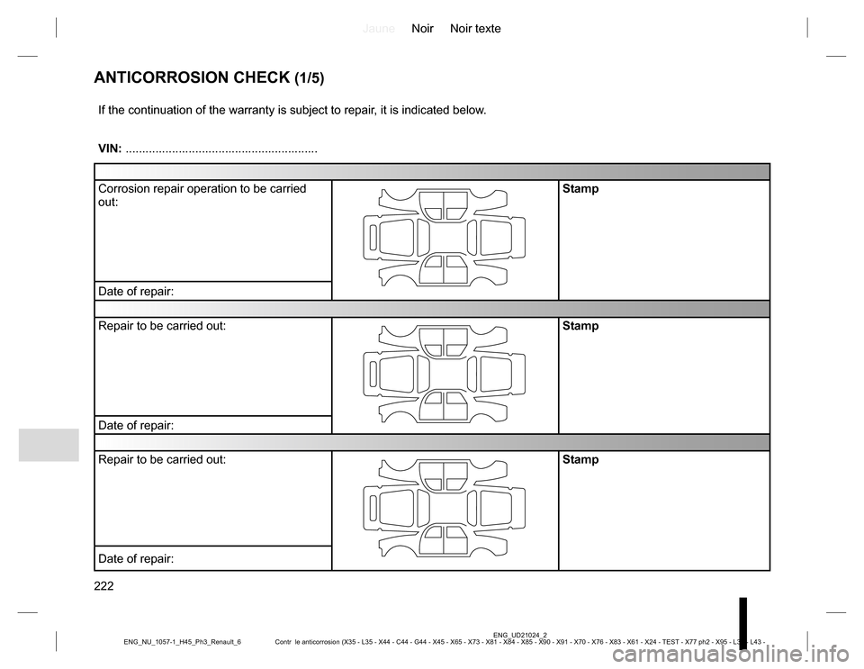 RENAULT KOLEOS 2015 1.G Owners Manual, Page 222