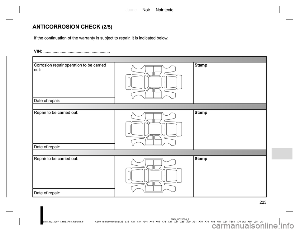 RENAULT KOLEOS 2015 1.G Owners Manual, Page 223