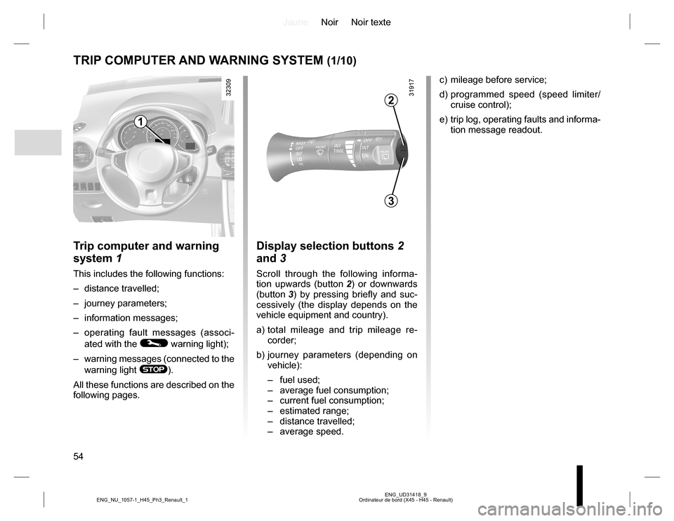 RENAULT KOLEOS 2015 1.G Owners Manual, Page 54