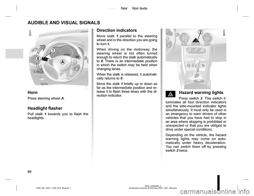 RENAULT KOLEOS 2015 1.G Owners Manual, Page 66