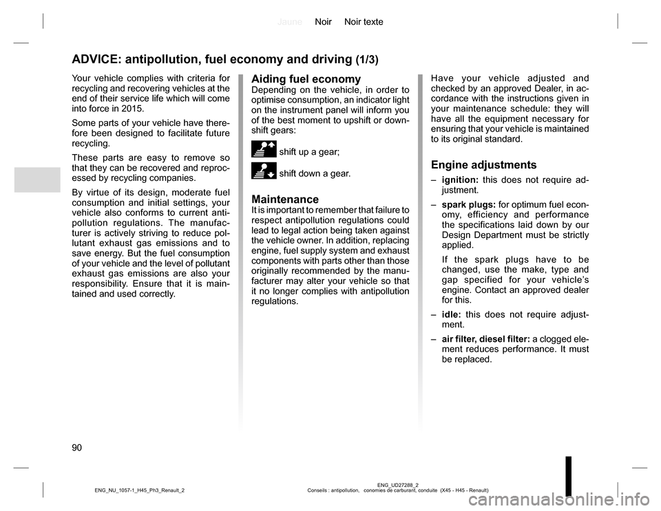 RENAULT KOLEOS 2015 1.G Owners Manual, Page 90