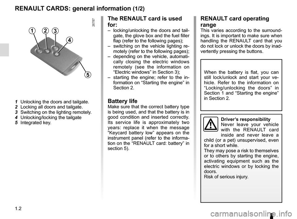 RENAULT MEGANE COUPE CABRIOLET 2015 X95 / 3.G Owners Manual, Page 8