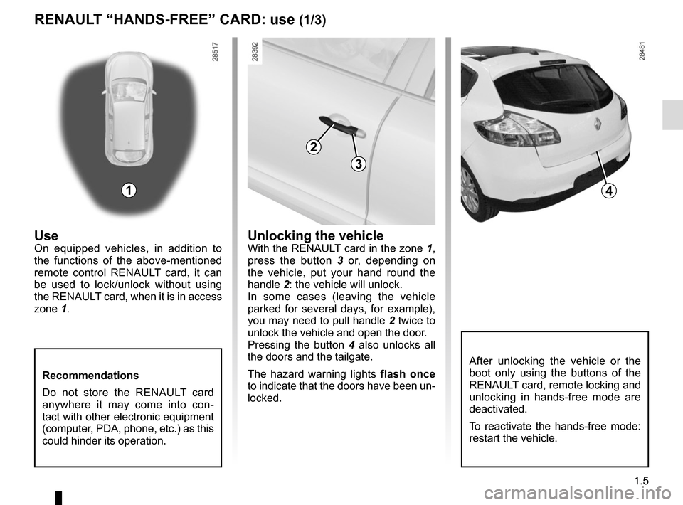 RENAULT MEGANE COUPE 2015 X95 / 3.G Owners Manual, Page 11