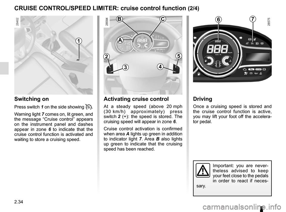 RENAULT MEGANE COUPE 2015 X95 / 3.G Owners Manual, Page 128