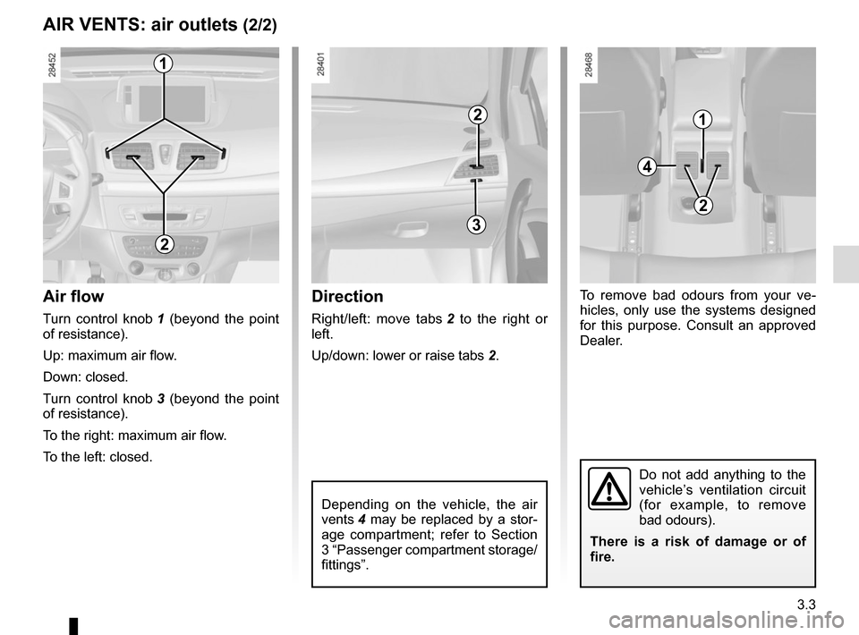 RENAULT MEGANE COUPE 2015 X95 / 3.G Owners Manual, Page 143