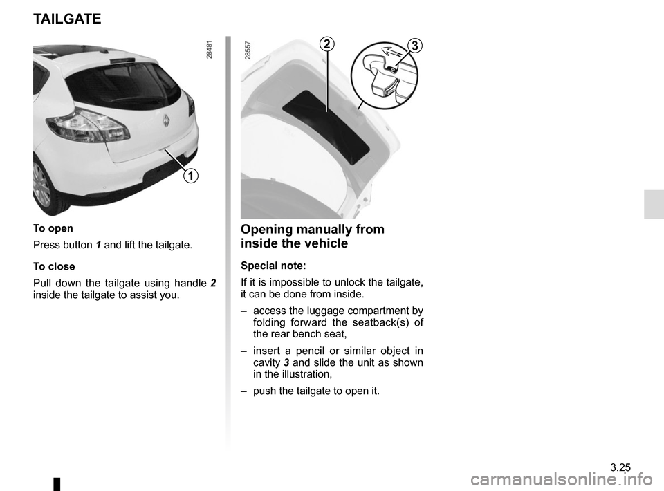 RENAULT MEGANE COUPE 2015 X95 / 3.G Owners Manual, Page 165