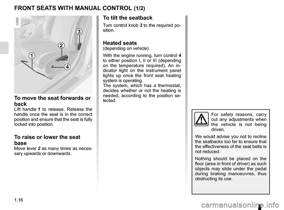 RENAULT MEGANE COUPE 2015 X95 / 3.G Owners Manual, Page 22