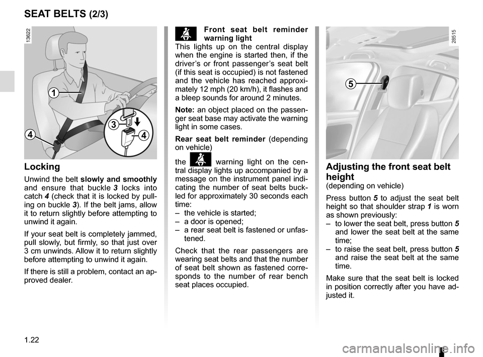 RENAULT MEGANE COUPE 2015 X95 / 3.G Owners Manual, Page 28